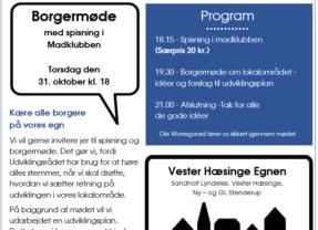 BORGERMØDE I X-HUSET DEN 31. OKTOBER